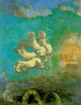 Odilon Redon's Apollo's Chariot Painting